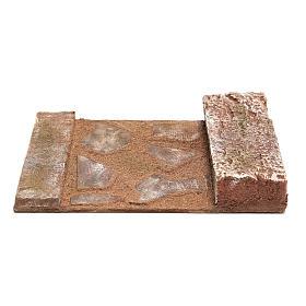 Ligne droite avec rocher crèche 12 cm s4