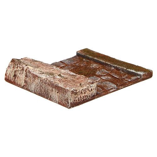 Ligne droite avec rocher crèche 12 cm 3
