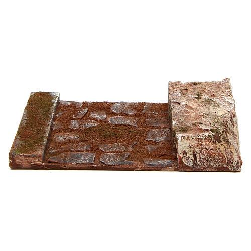 Ligne droite avec rocher crèche 12 cm 4
