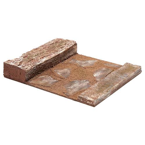Ligne droite avec rocher crèche 12 cm 2