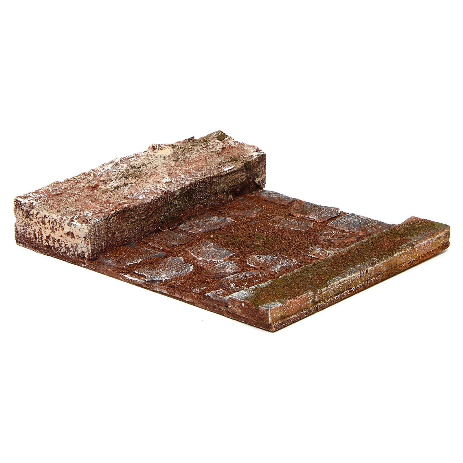 Rettilineo con roccia presepe 12 cm 4