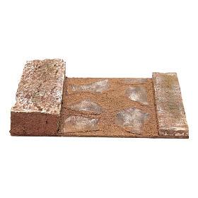 Rettilineo con roccia presepe 12 cm s1