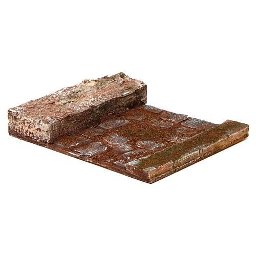 Rettilineo con roccia presepe 12 cm 2