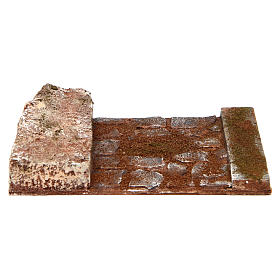 Joinable straight line road part with rock for Nativity 12 cm s1