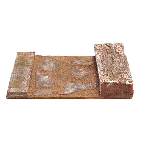 Joinable straight line road part with rock for Nativity 12 cm 4