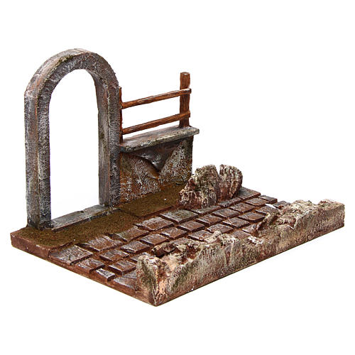 Modular road with arch and wall 12 cm 3