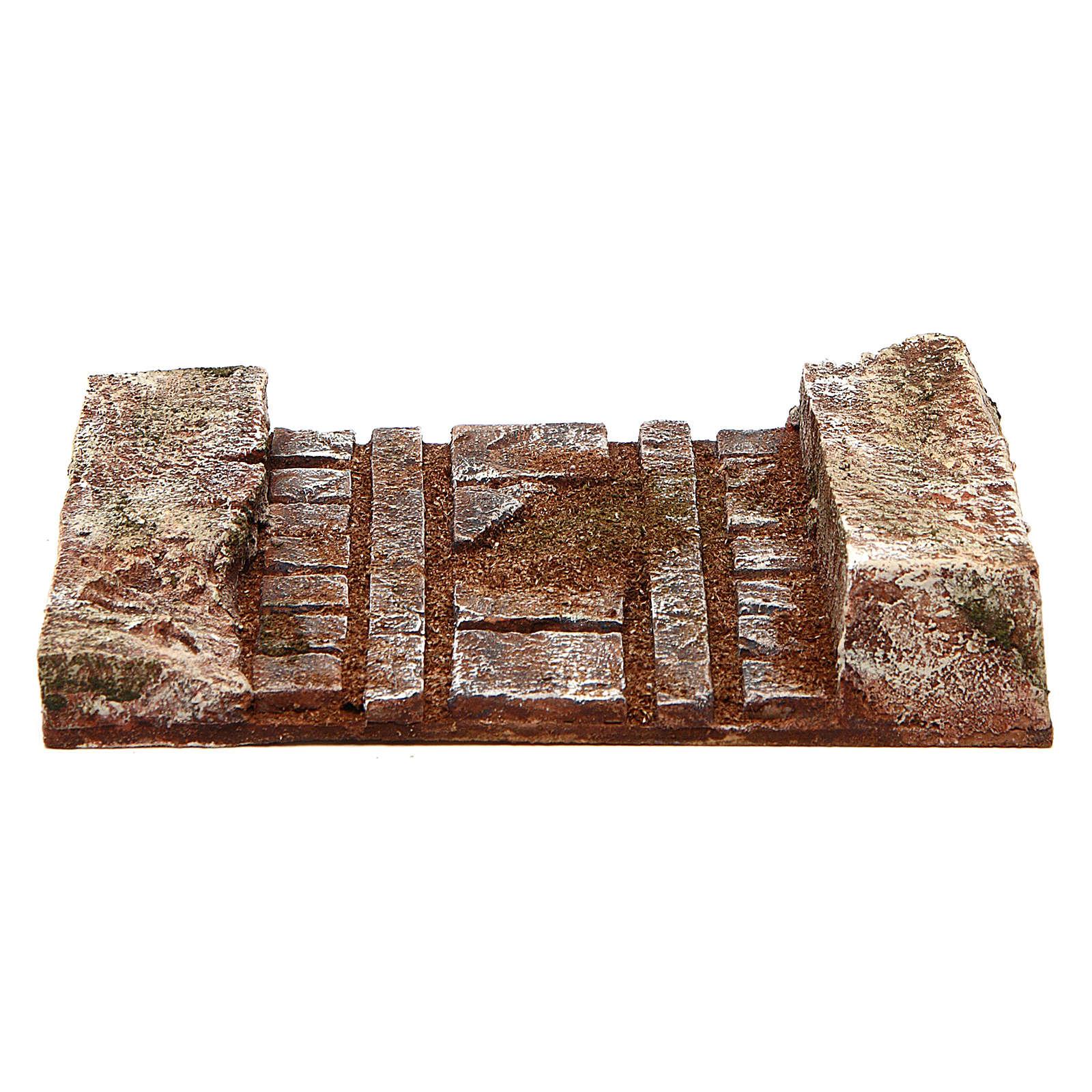 Morceau de route droite santons 10 cm 4