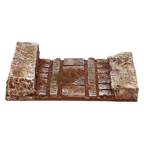 Morceau de route droite santons 10 cm 1
