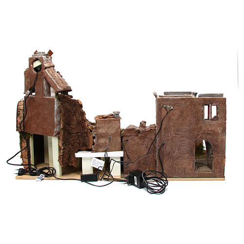 Aldea belén con molino y luces 80x40xh.50 cm 4