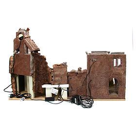 Village crèche avec moulin et lumières 80x40x50 cm s4