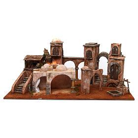 Ambientações para Presépio: lojas, casas, poços: Aldeia em miniatura estilo árabe 80x40x50 cm