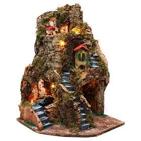 Village with watermill 30x30x45 cm for Nativity Scene 6-8 cm s1