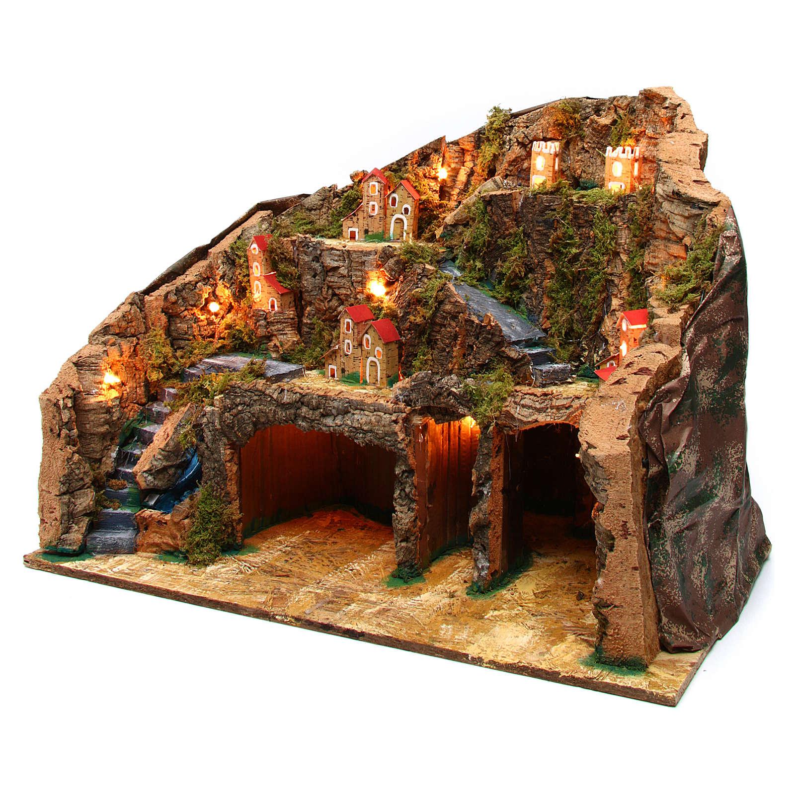 Village 60x35x40 cm for Nativity Scene 10-12 cm 4