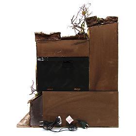 Ambientazione stile napoletano con cielo e mulino 60x50x65 cm per presepe 10-12 cm s4