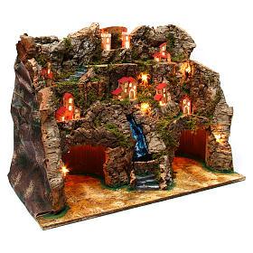 Village with water stream 60x35x50 cm for Nativity Scene 10-12 cm s3