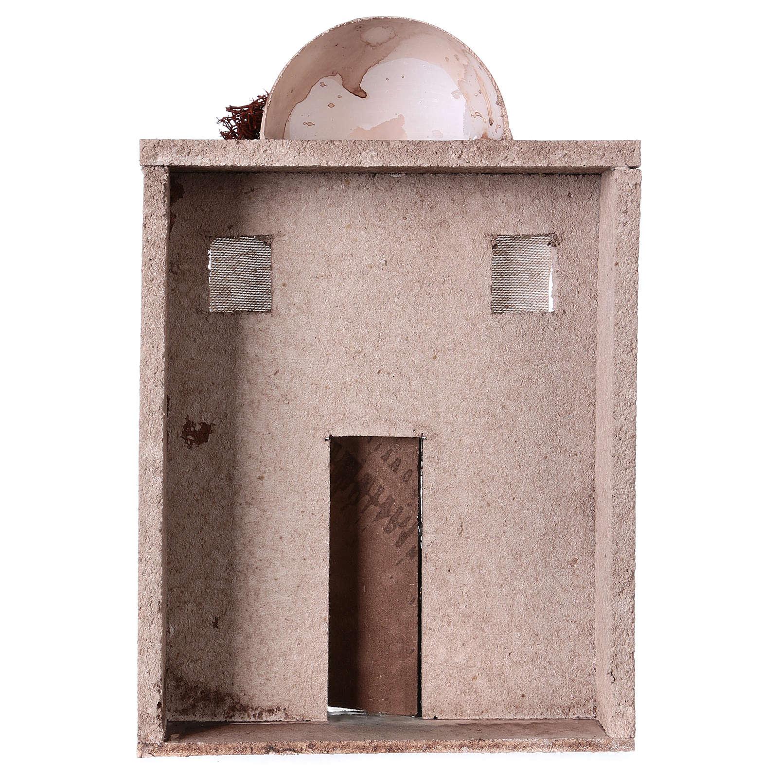 Casa oriental para belén de 10 cm - 30x20x5 - fachada 4