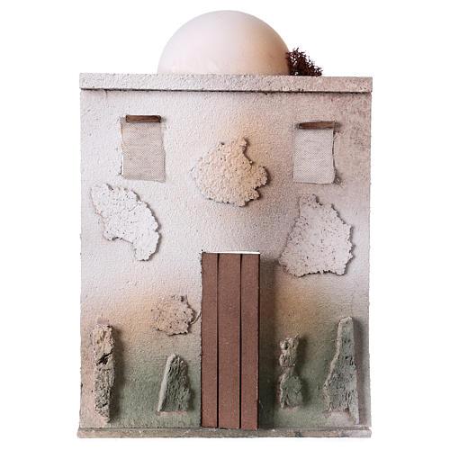 Casa oriental para belén de 10 cm - 30x20x5 - fachada 1