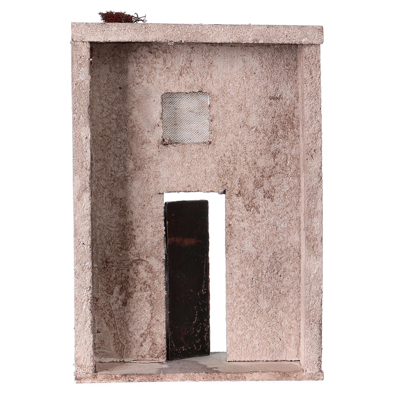 Façade maison style orientale pour crèche de 10 cm 20x15x5 cm 4