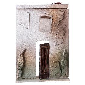 Maisons, milieux, ateliers, puits: Façade maison style orientale pour crèche de 10 cm 20x15x5 cm