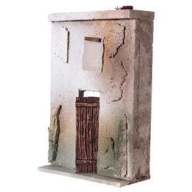 Façade maison style orientale pour crèche de 10 cm 20x15x5 cm s2