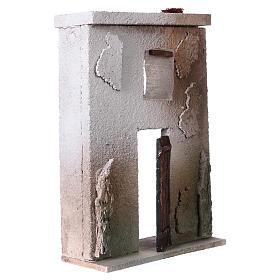 Façade maison style orientale pour crèche de 10 cm 20x15x5 cm s3