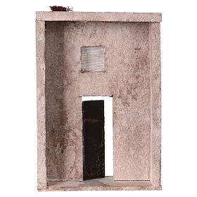 Façade maison style orientale pour crèche de 10 cm 20x15x5 cm s4