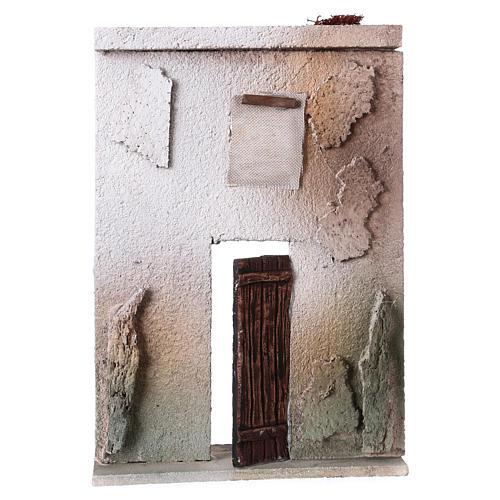 Façade maison style orientale pour crèche de 10 cm 20x15x5 cm 1