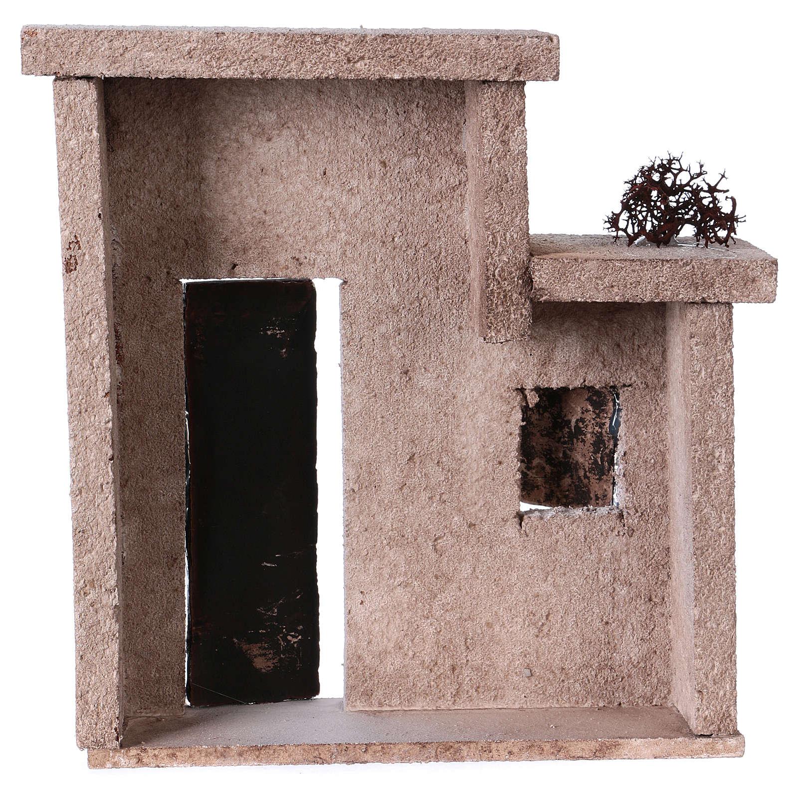 Fachada casita oriental para belén de 10 cm - 15x15x5 4