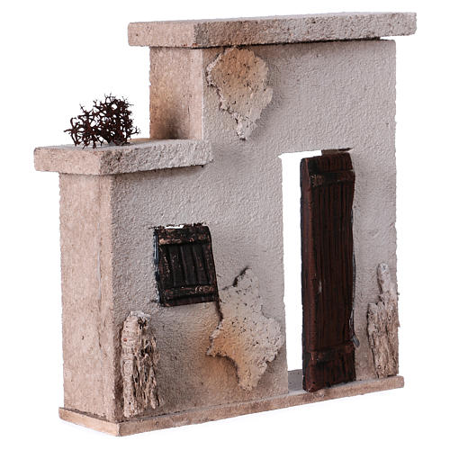 Fachada casita oriental para belén de 10 cm - 15x15x5 3