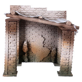 Settings, houses, workshops, wells: Oriental building 20x20x20 cm for 10 cm nativity scene