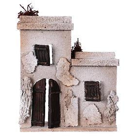 Ambientações para Presépio: lojas, casas, poços: Casa oriental 15x15x5 cm para peças de 7 cm fachada