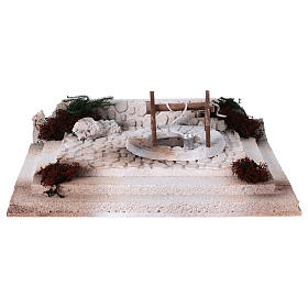 Arab square with well 10x30x20 cm for 8-10 cm nativity scene s1