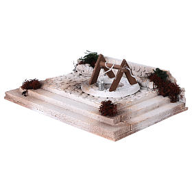 Arab square with well 10x30x20 cm for 8-10 cm nativity scene s2