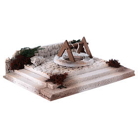Arab square with well 10x30x20 cm for 8-10 cm nativity scene s3