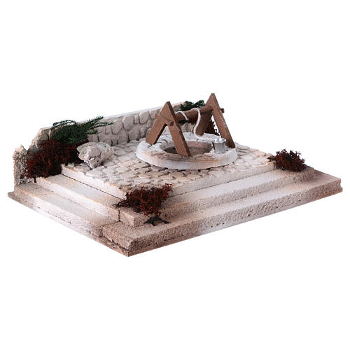 Arab square with well 10x30x20 cm for 8-10 cm nativity scene 3