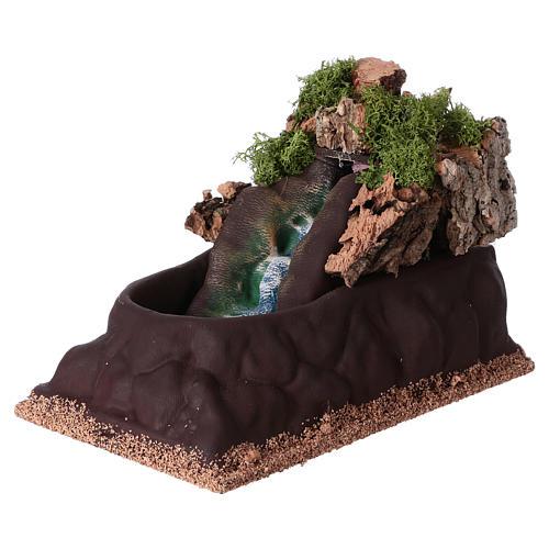 Cascada para belén para estatuas de 6-8 cm de altura media. 15x10x20 2