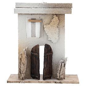 Ambientações para Presépio: lojas, casas, poços: Casinha em cortiça 15x10x5 cm peças 7 cm fachada
