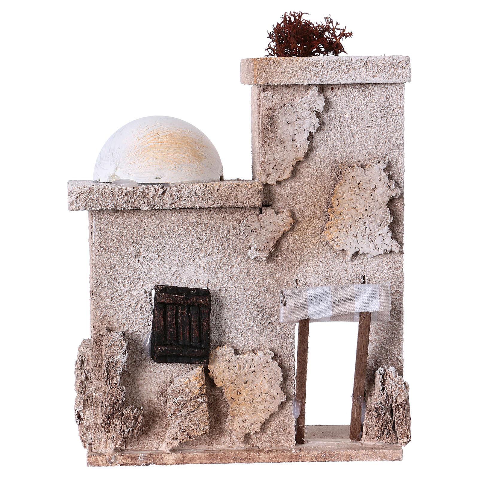 Arabisches Haus mit Kuppel 15x15x5cm für Krippe 4