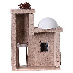 Arabisches Haus mit Kuppel 15x15x5cm für Krippe s4
