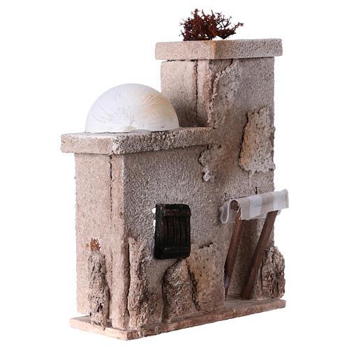 Arabisches Haus mit Kuppel 15x15x5cm für Krippe 3