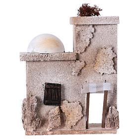Ambientações para Presépio: lojas, casas, poços: Casinha árabe 15x15x5 cm para peças de 7 cm