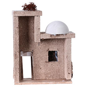 Small arabian style house front for 7 cm nativity scene, 15x15x5 cm s4