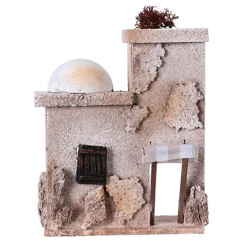 Small arabian style house front for 7 cm nativity scene, 15x15x5 cm 1