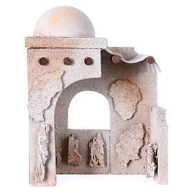 Maisons, milieux, ateliers, puits: Cabane arabe 20x15x10 cm adaptée pour santons crèche de 7 cm