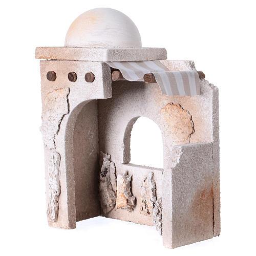 Capanna araba 20x15x10 cm adatta a statue presepe di 7 cm  2