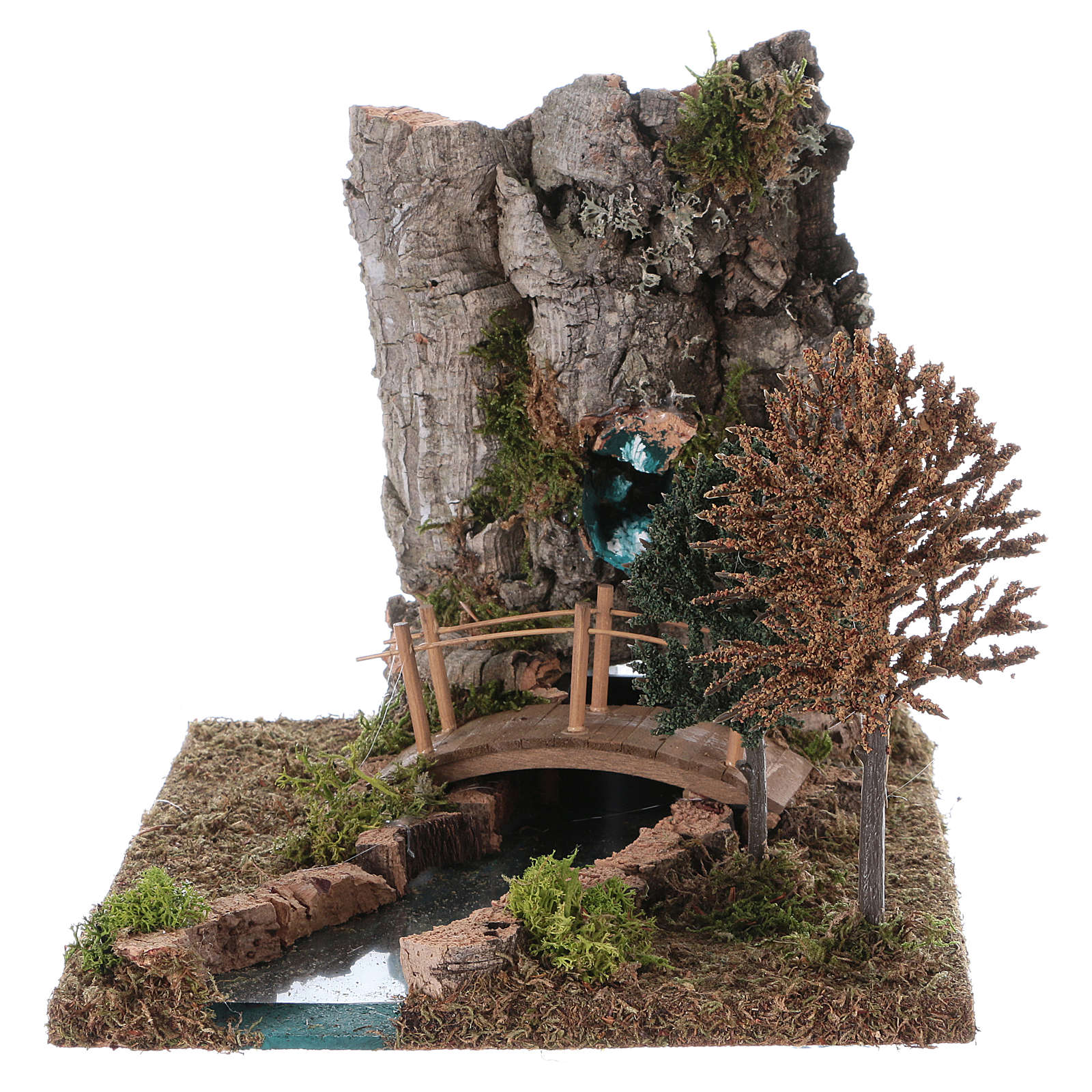 Fountain with river for Nativity Scene 20x25x20 cm 4