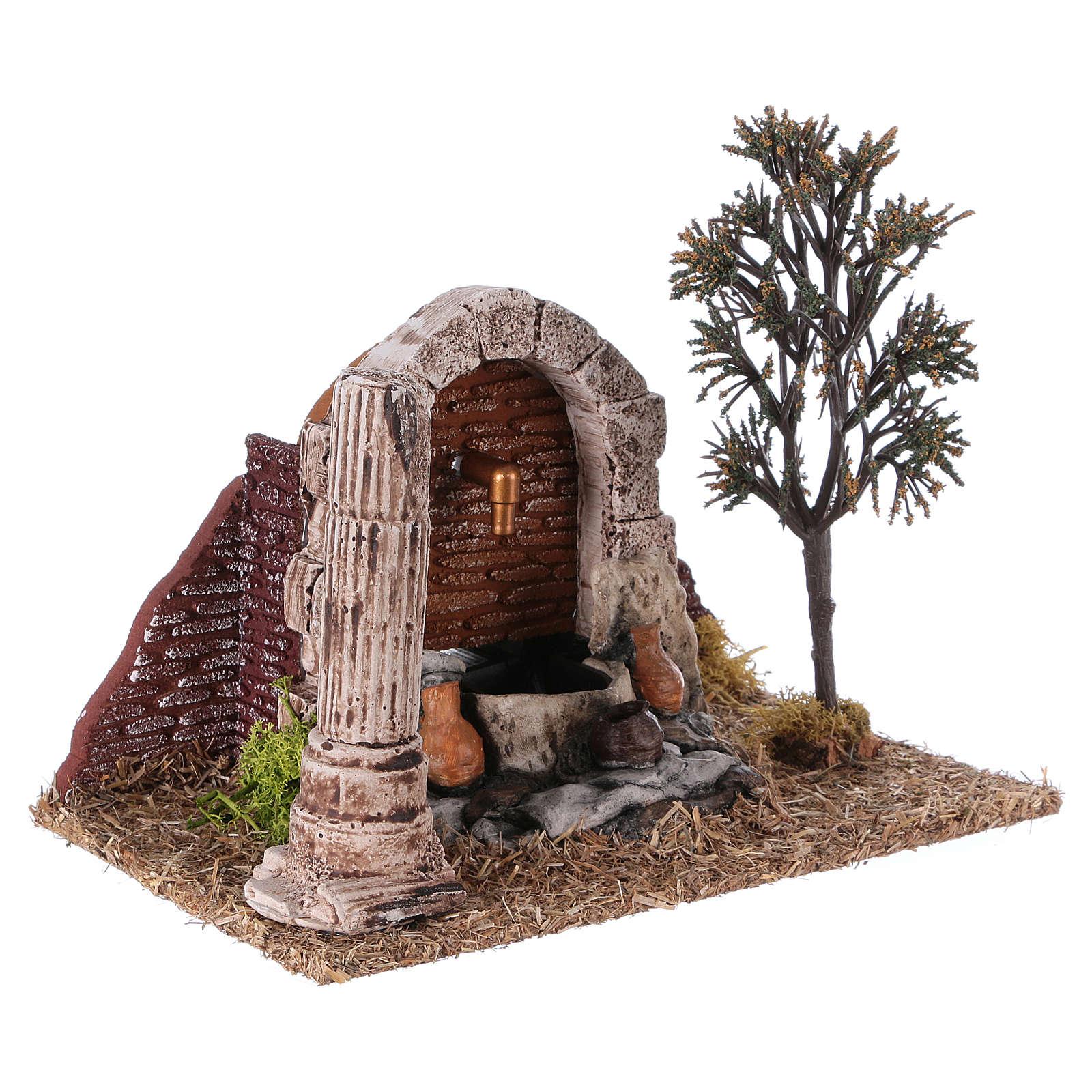 Fontana per presepe 20x25x15 cm 4