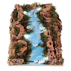 Bridges, streams and fences for Nativity scene: Waterfall for Nativity scene with lights, battery-powered 15x20x15 cm