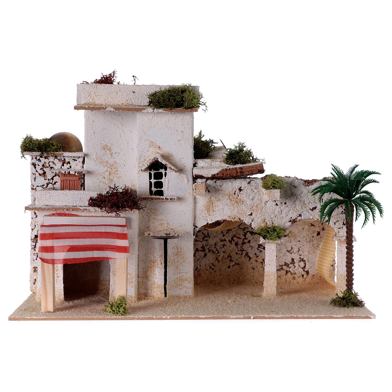 Traditional arab house for Nativity scene 35x20x20 cm 4