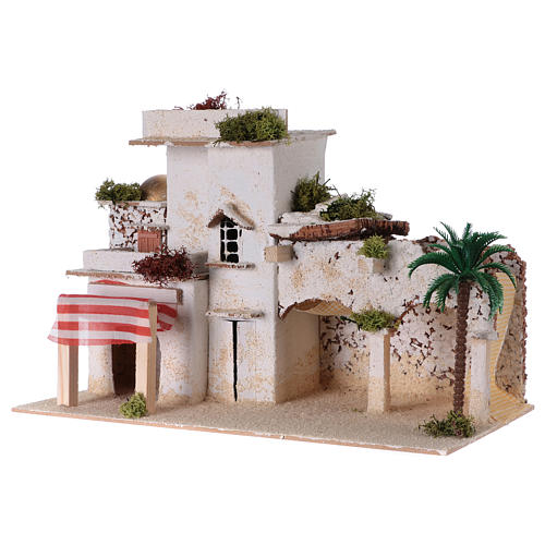 Traditional arab house for Nativity scene 35x20x20 cm 2